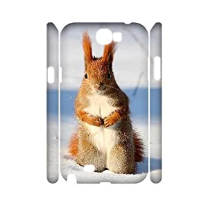 QSWHXN Squirrel Customized Hard 3D Case For Samsung Galaxy Note 2 N7100