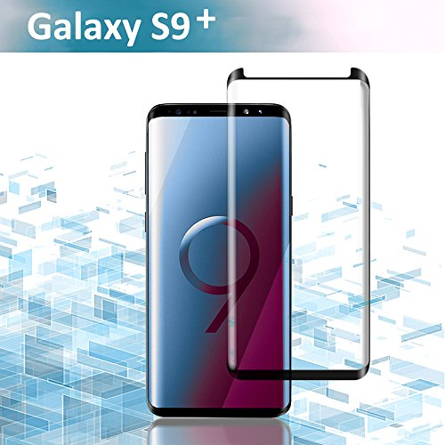 Galaxy S9 Plus Screen Protector, Case Friendly Scratch Proof 3D Curved Edge Screen Protector, HD Clear Tempered Glass Film Screen Protector For Samsung Galaxy S9 Plus