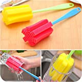 brushed bottle glass cupbrush cleaning sponge clean kithcen house