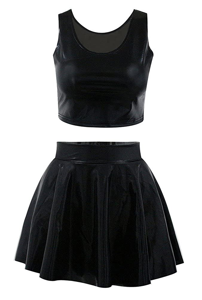 13a3cc2d29 Packed with 1*tank top + 1*skirt. Material:polyester and spandex. Size(one  size): top:length 13.7'', bust 29.9'', skirt:length 15.7'', waist  24.4-35.4'' The ...