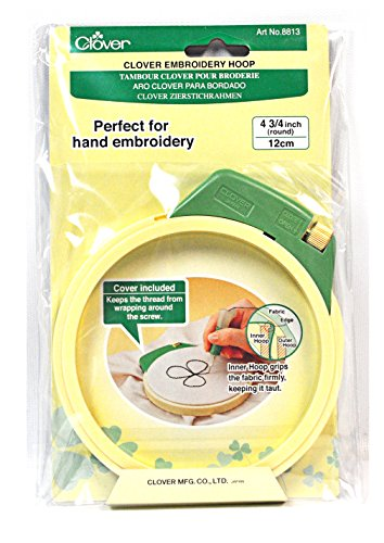 Hoop Embroidery Clover (Clover Embroidery Hoop 4-3/4 Inch)