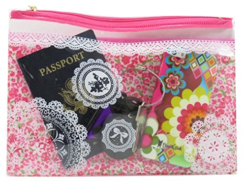 mini-travel-cosmetic-zipper-bags-vinyl-10-x-7-pink-blue-orange-set-of-2