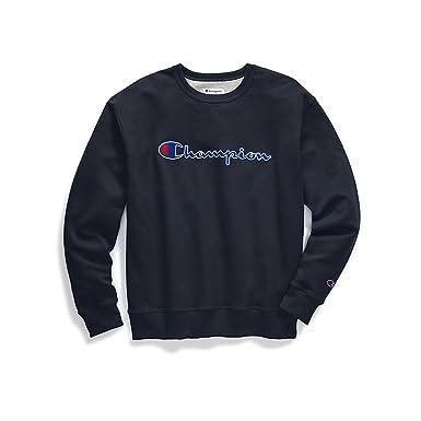 d7c877cd5b6c Champion Men's Powerblend¿ Crew - Applique Y07416 at Amazon Men's Clothing  store: