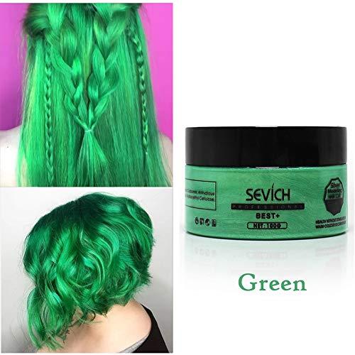 Cutelove Hair Color Wax,Temporary Hair Dye Wax,Hair Color Clay Hair Dye Wax Hair Dyes,100g,Green