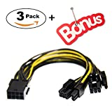 8 Pin PCI-E PCI Express Graphics Video Card GPU VGA 8 Pin Female to Dual GPU 8Pin (6+2) Pin Male GPU 8 pin Splitter Power Extension Cable 8 Pin GPU molex (9-inch) 3 Pack +Bonus TeamProfitcom