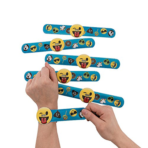 Fun Express Emoji Slap Bracelet Watch - 12 Pieces ()