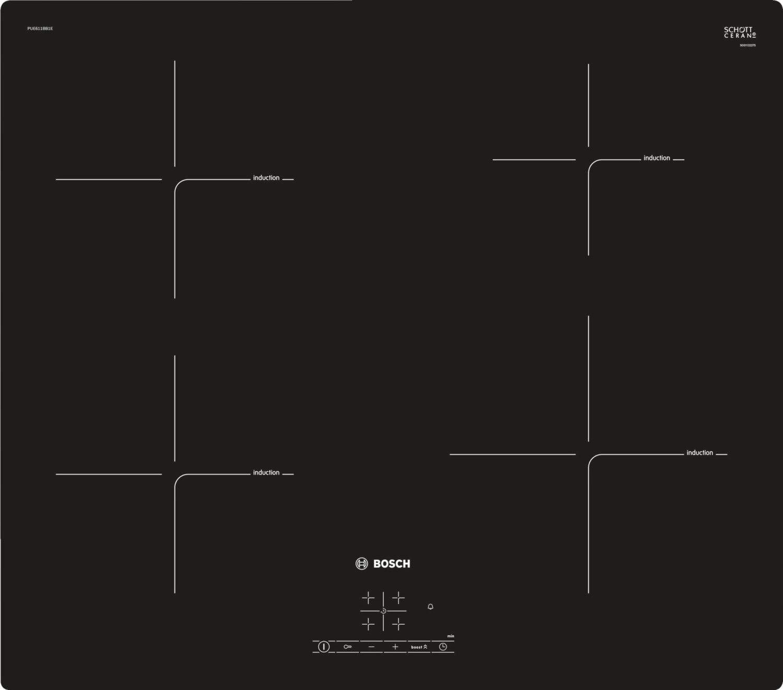 Bosch Serie 4 PUE611BB1E hobs Negro Integrado Sin - Placa ...