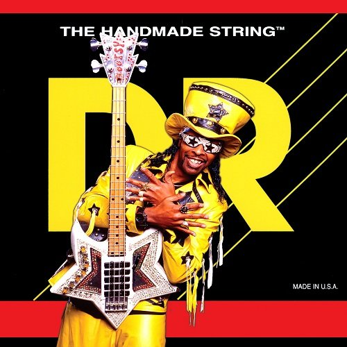 DR Strings Bass Strings, Bootzillas - Bootsy Collins Signature, 5-String, 45-125 (Signature Stainless Steel Bass)