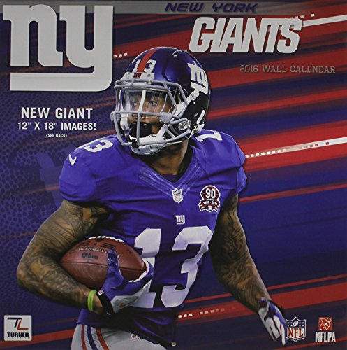 Giants Wall Calendar (New York Giants Wall Calendar 2016)