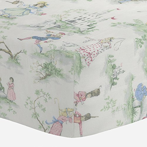 Crib Floral Toile (Carousel Designs Nursery Rhyme Toile Crib Sheet)