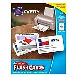 Avery Custom Print Flash Cards 3 x 5 Inches (04780)