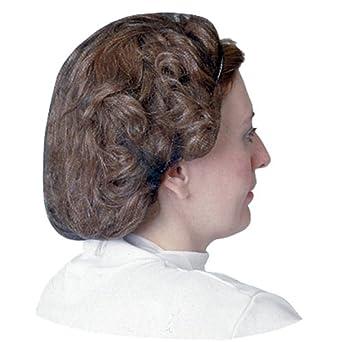 """Impact 7386W21 Nylon Honeycomb Hair Nets, 21"""" Diameter, White (10 Bags of 100)"""