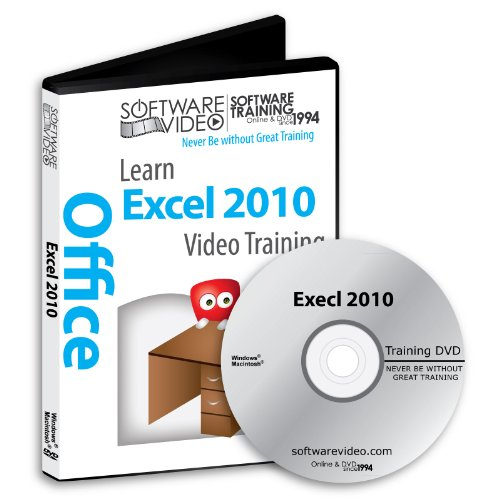 Software Video Learn MICROSOFT EXCEL 2010 Training DVD Sale 60% Off training video tutorials DVD (Excel 2010 Program compare prices)