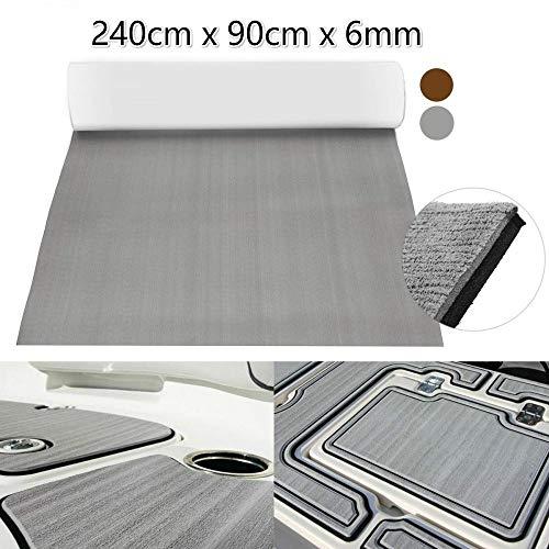 Pure Grey Self Adhesive EVA Foam Teak Sheet Boat Yacht Synthetic Decking 0.6cm 90x240cm Foam Floor Mat