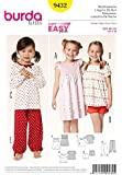 Patron de couture Burda Enfant Facile 9432–Pyjama Robe et nuit