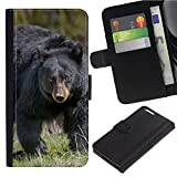 [Black Bear] For Motorola Z2 Force/Moto Z2 Force Edition/Z2 Play/XY1710, Flip Leather Wallet Holsters Pouch Skin Case