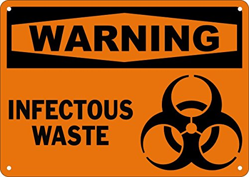 Warning Infectious Waste Safety Sign 14x20 1 Decal Sticker Buy