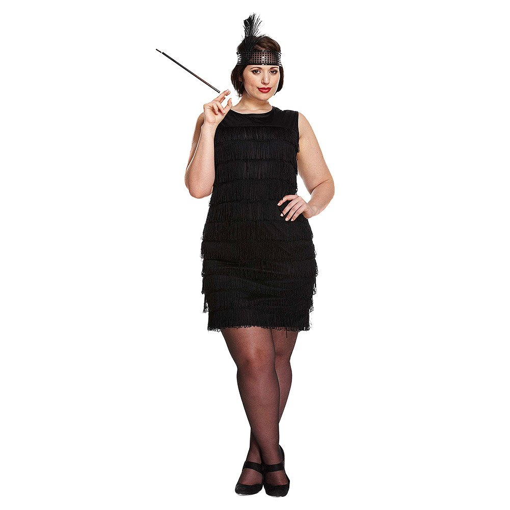 3454bcbbe1f Adult Ladies Plus Size Flapper Costume for 20s Gangsters Moll Fancy Dress UK  16-18  Amazon.co.uk  Toys   Games