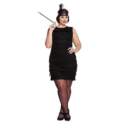 Amazon Black Flapper Fancy Dress Costume Plus Size By Pams