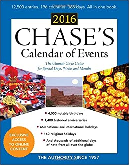 Image result for chase's calendar of events 2016