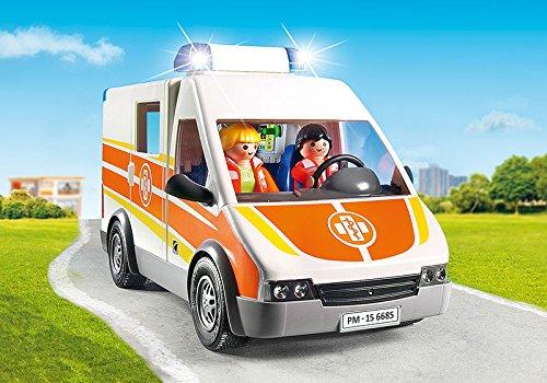 Jugatoys PLAYMOBIL Ambulancia con Luces Y Sonido 2