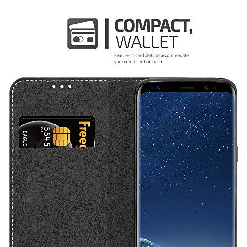 Cadorabo - Funda Estilo Book para >                                      Samsung Galaxy S8                                      < de Diseño gamuza-Artificial / Cuero-Artificial con Tarjetero, Función de Soporte y Cierre Magnético Invisible