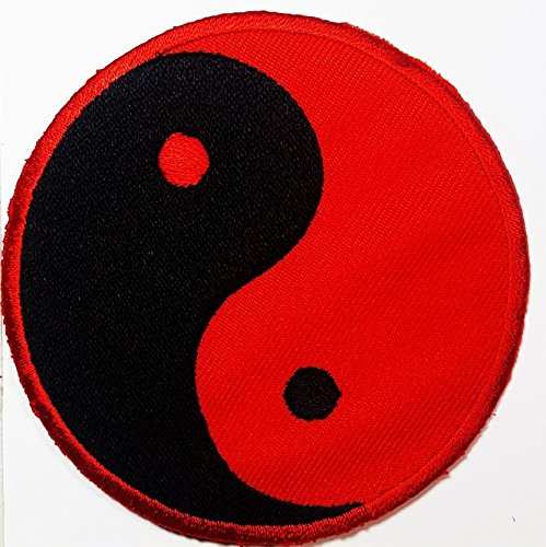 Yin yang patch Symbol Jacket T-shirt Patch Sew Iron on Embroidered Sign Badge Costume. 3 x 3 inches.]()