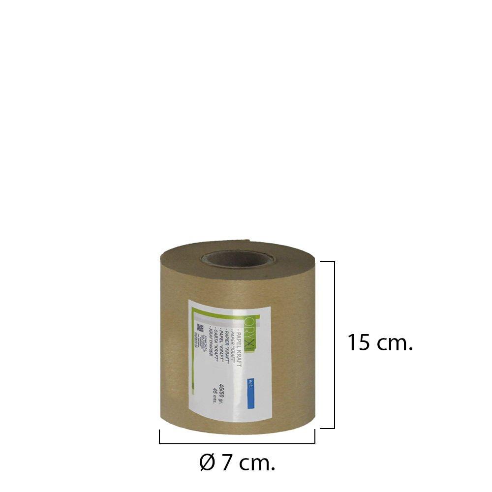 45 cm x 45 m, est/ándar Rollo de papel kraft color marr/ón Oryx 14051710