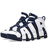 Nike Men's Air More Uptempo, WHITE/MIDNIGHT NAVY-METALLIC GOLD