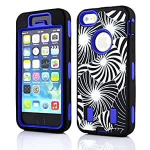 Nsaneoo - 2 in 1 Dandelion Robot Style PC and Sillcone Composite Case for iPhone 4/4S(Assorted Colors) , Purple