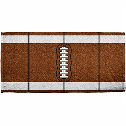 Football All Over Beach Towel