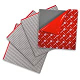 Peel-and-Stick Baseplates - Self Adhesive Building Brick Plates - Compatible with All Major Brands - 4 Pack - Grey - 10 inch x 10 inch - By Creative QT