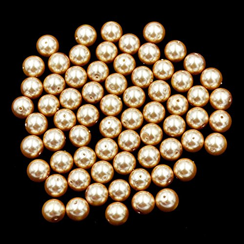 AD Beads Top Quality Czech Glass Pearl Round Loose Beads 3mm 4mm 6mm 8mm 10mm 12mm (4mm (200 Pcs), Champagne)
