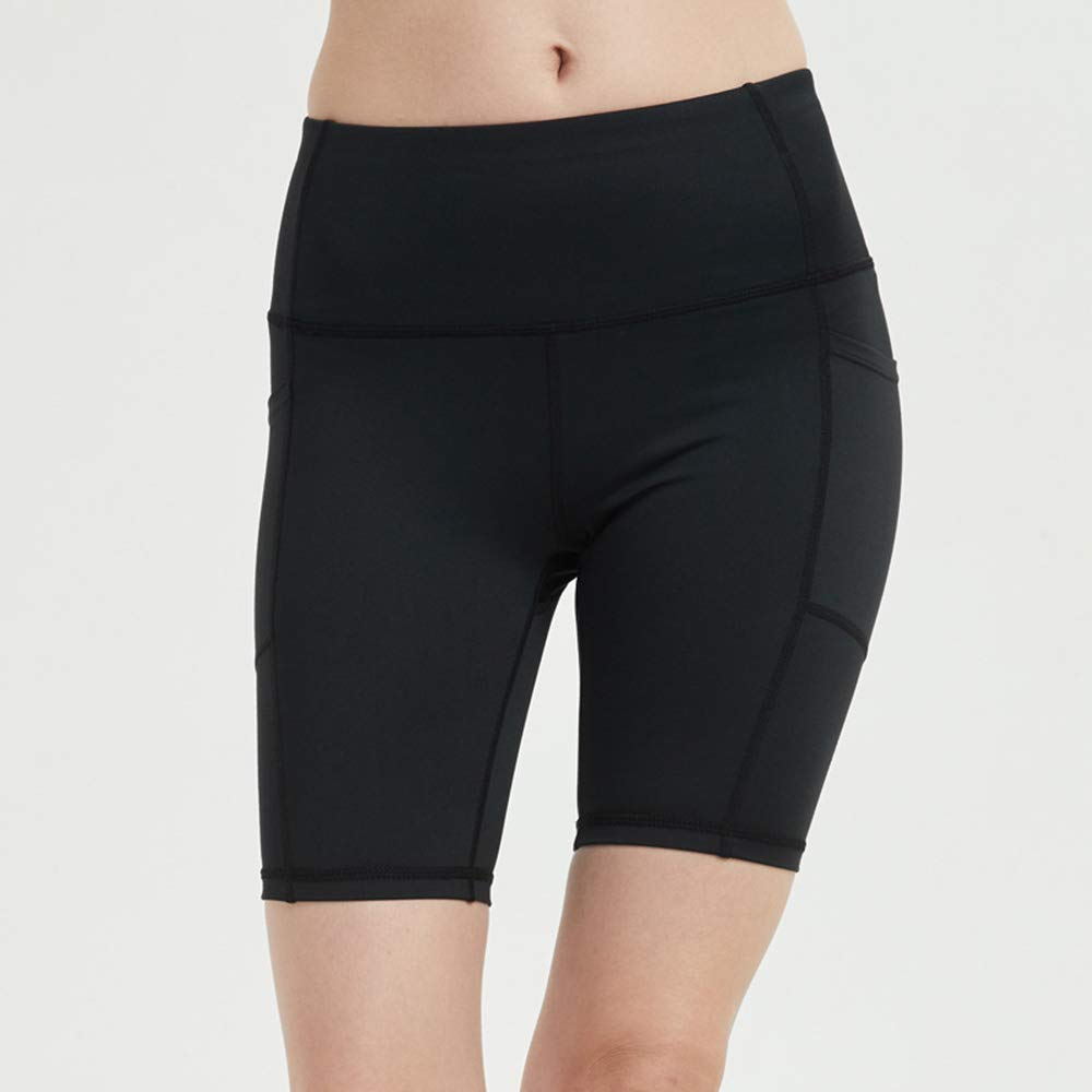 Schwarz xinzhi Damen Fitness Shorts Kompressionsshorts Bodybuildinghosen Stretch Shorts Tanzshorts Reith/öschen Mit Tasche S