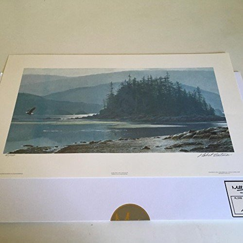 Limited Edition Print Along The Coast-Bald Eagle-ROBERT BATEMAN