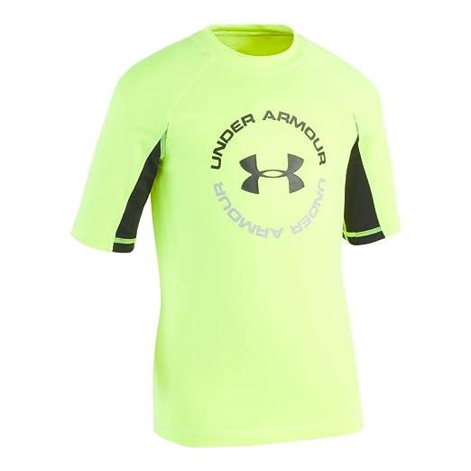 df9e39fe31 Under Armour Boys' Ua Comp Short Sleeve T-Shirt Rashguard