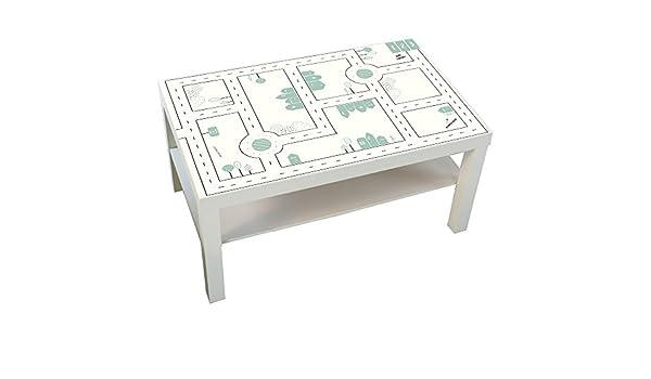Muebles adhesivos infantiles Calles – Compatible con Ikea Lack – Mesa – Grande – Mesa de juegos – No incluye: Amazon.es: Juguetes y juegos