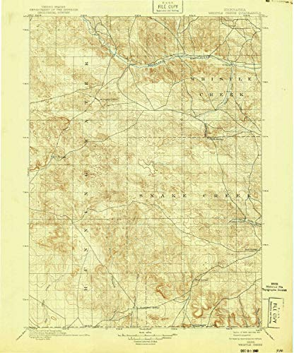 YellowMaps Whistle Creek NE topo map, 1:125000 Scale, 30 X 30 Minute, Historical, 1899, Updated 1940, 19.8 x 16.5 in - Polypropylene ()