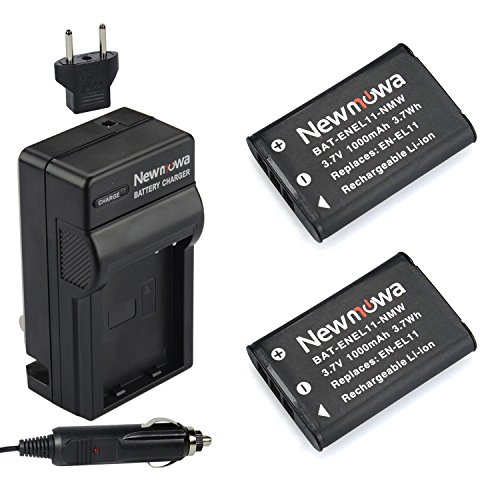 (Newmowa EN-EL11 Replacement Battery (2-Pack) and Charger kit for Nikon CoolPix s550/Pentax Optio M50/Ricoh Caplio R50/Olympus FE-370 Digital Camera)
