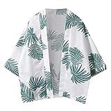 Men's Shirts Casual Long Sleeve Shirts Tropical Printed Loose Sun Protection Lighweight Tops