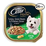 CESAR HOME DELIGHTS Wet Dog Food Turkey, Green Beans & Potatoes Dinner, (Pack of 24) 3.5 oz. Trays For Sale