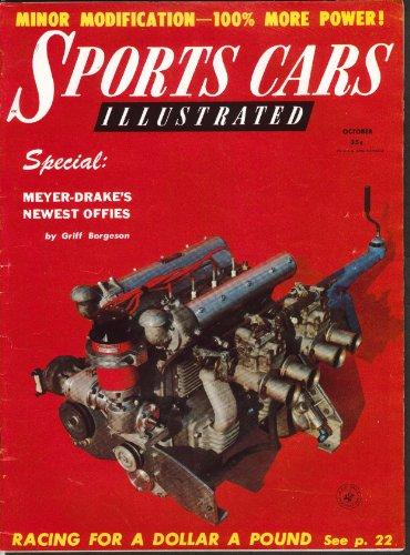 SPORTS CARS ILLUSTRATED Renault Dauphine 2.4 Jaguar road tests 10 1956
