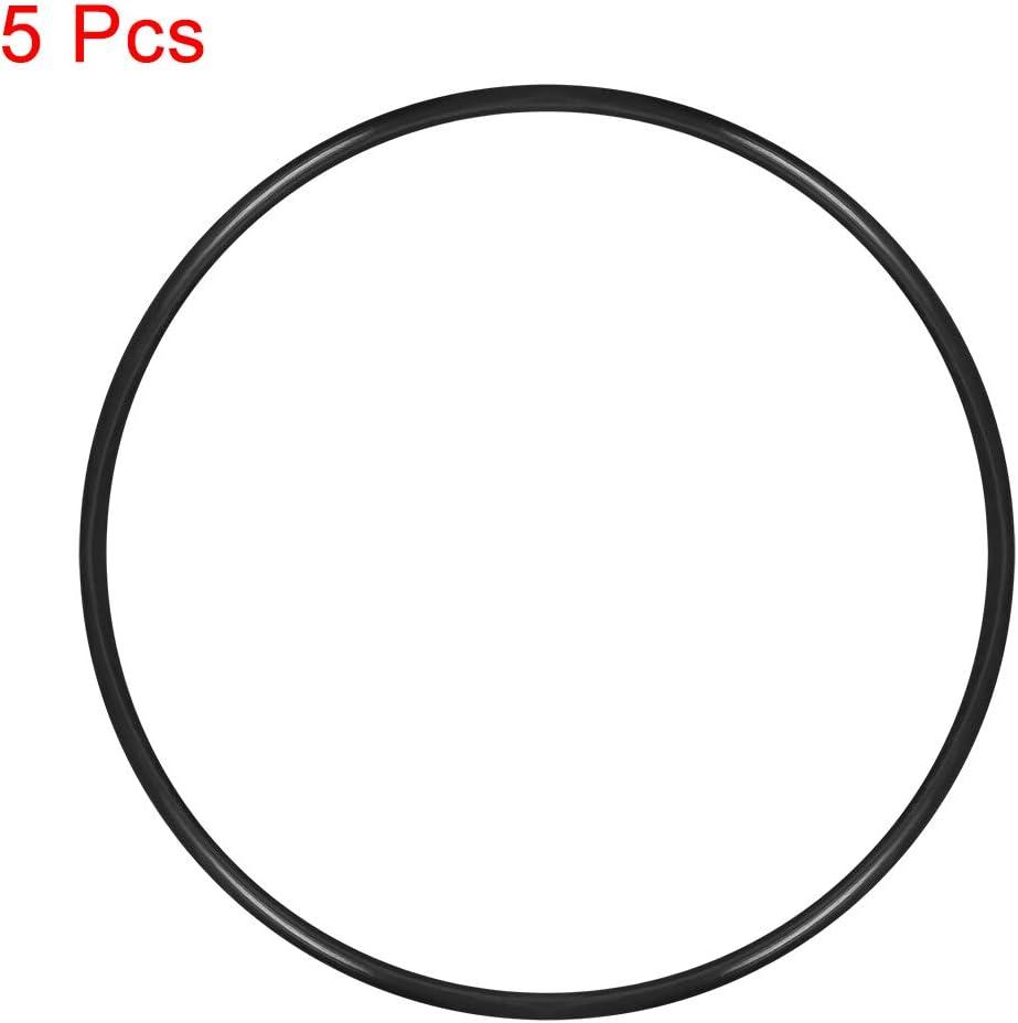 Sourcingmap juntas t/óricas de goma de nitrilo di/ámetro interior de 123 mm junta de sellado redonda 5 unidades di/ámetro exterior de 130 mm ancho de 3,5 mm