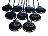 Groomsmen Pocket Watch Set of 8, Chain, Box and Engraving Included, Comes in 4 Colors, Sold as a Set of 8 Pocket Watches (Black)