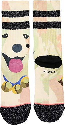 Stance Girls' Puppies Crew Socks, Black, Large by Stance