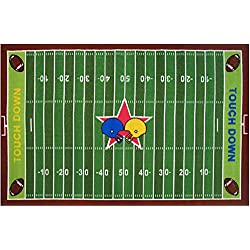 Fun Rugs FT-121 3958 Football Field Childrens Rug, 39-Inch by 58-Inch