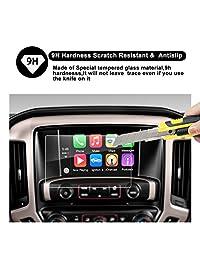 "2015 2016 2017 2018 GMC Sierra 1500 2500HD IntelliLink 8-Inch sistema de navegación de coche, GMC infotaintment ruiya HD Protector de visualización de vidrio templado transparente película protectora, 8"" (20 cm)"
