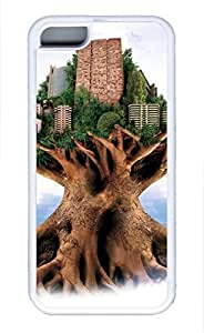 iPhone 5S Case, iPhone 5S Cases - Anti-Scratch Back Bumper for iPhone 5S City In A Tree Shock-Absorption iPhone 5S