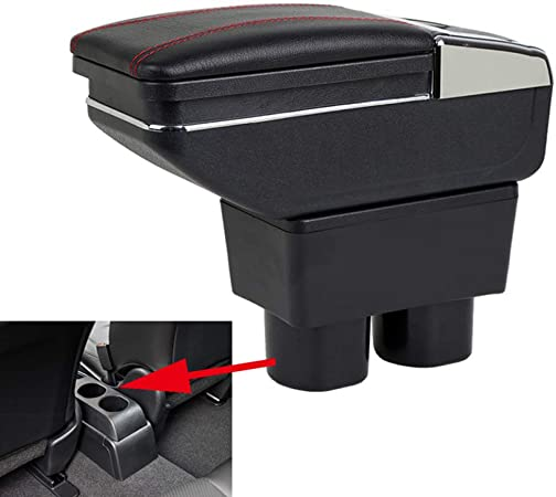 Szss Car Leder Auto Mittelkonsole Armlehne Box Armlehnen Aufbewahrungsbox Schwarz Auto