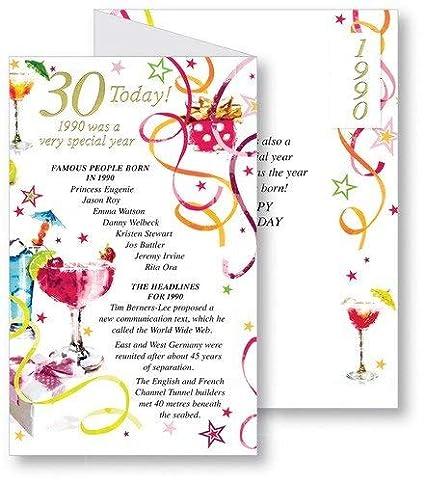 Rosa 30th Tarjeta de cumpleaños - 1985 fue un año muy ...